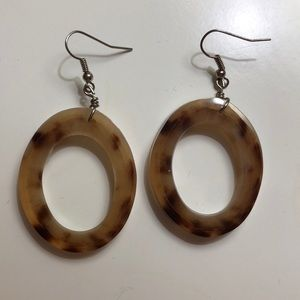 Noonday collection horn hoop earrings